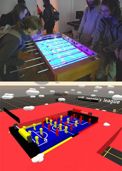 real-and-virtual-life-football-table