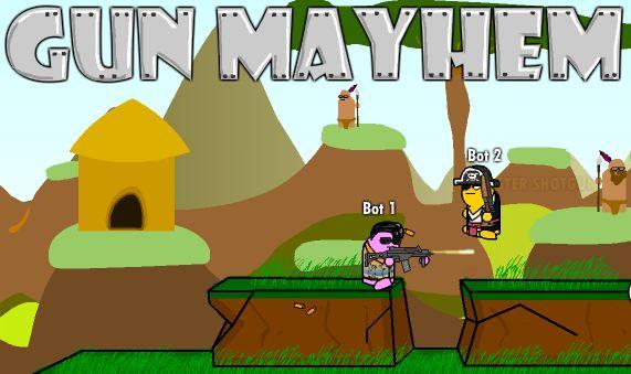 Gun Mayhem. Отличный Flash -шутер. Плохого мы не посоветуем :)
