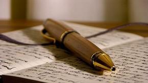 Современная ручка для письма. История возникновения.