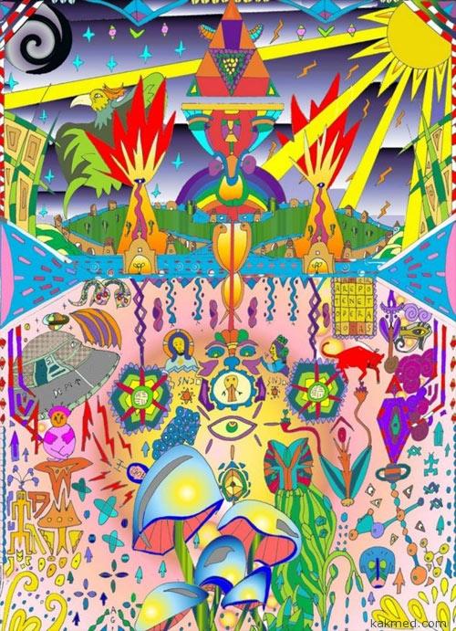 Лишившись части мозга, мужик начал рисовать психоделические картины