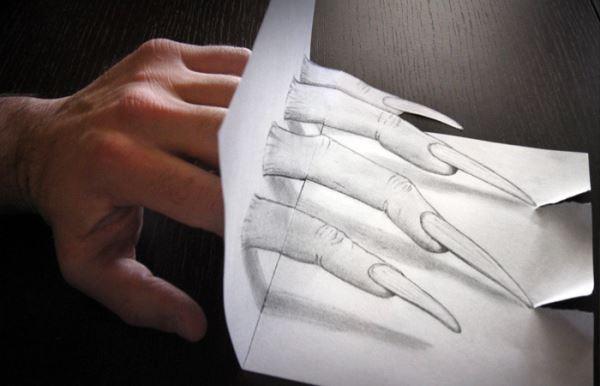 3D рисунки, нарисованные на бумаге простым карандашом