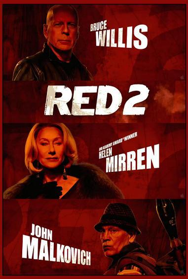 Кинопремьера августа: RED 2. В главной роли: Брюс Уиллис и Джон Малкович.