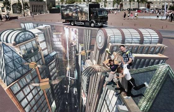 3D реклама Renault во Франции.