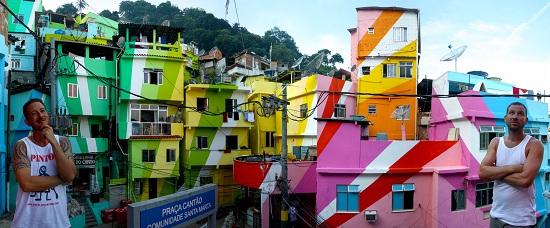 Красочная жизнь бедняка: гениальный арт-проект «Favela Painting»