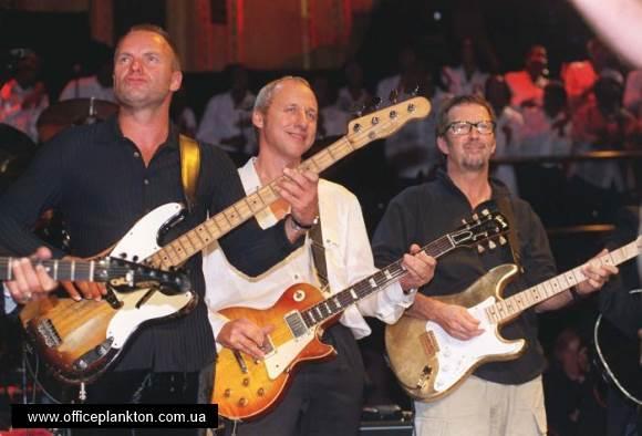 Супергерои музыки: Марк Кнопфлер, Стинг, Эрик Клептон и Филл Коллинз — Money for Nothing (Live Montserrat).