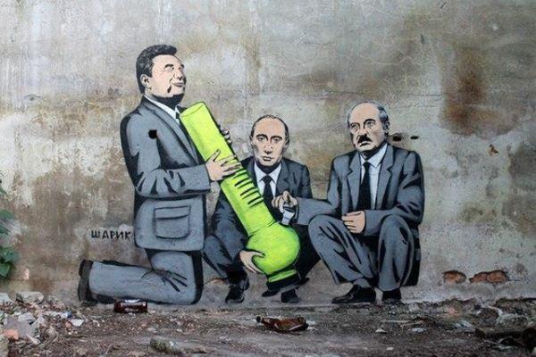 Свой Бэнкси: лучшие работы Шарика — украинского художника в жанре стрит-арт.