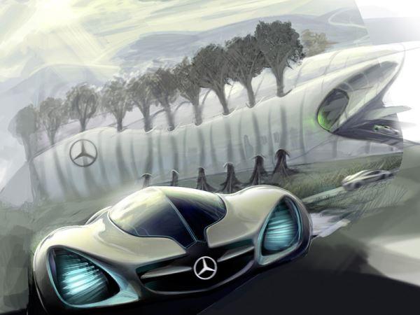 Экологичный автомобиль Mercedes-Benz BIOME, созданный из растительного биоволокна