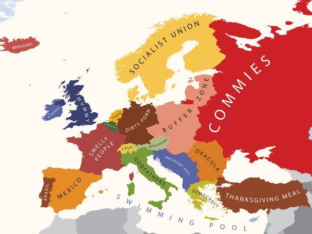 Необычные и креативные карты Европы