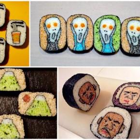Удивительный суши-арт для любителей суши. А ты любишь суши?