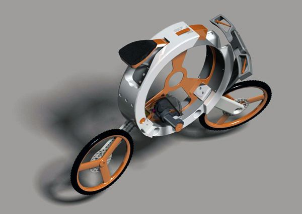 Складной велосипед Donut(Пончик), сворачивающийся в компактный «калачик»