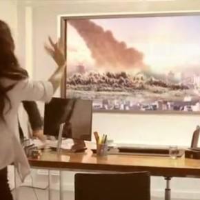 Реклама-розыгрыш телевизора от LG. Это всего лишь реклама, а не конец света.