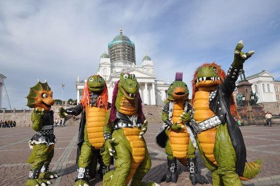 В Финляндии есть детская хэви-метал группа «Хэвизавры»