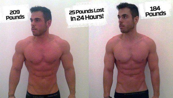 Спортсмен похудел на 11 кг за 24 часа