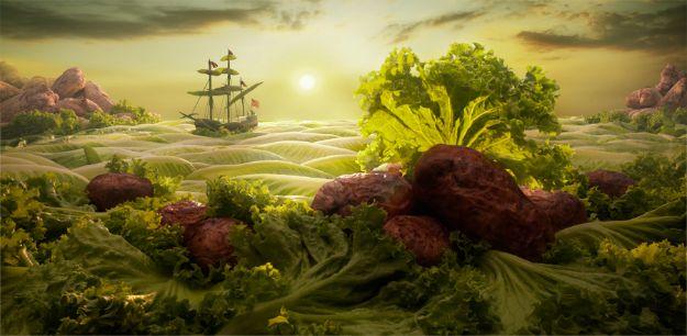 Не только на стол: живые пейзажи, приготовленные из еды