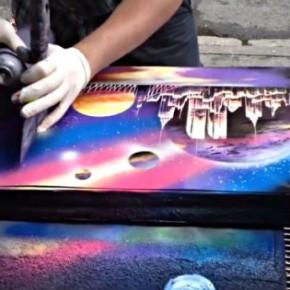 Уличные художники Нью-Йорка, создающие настоящие шедевры с помощью обычного баллончика с краской. [Видео]