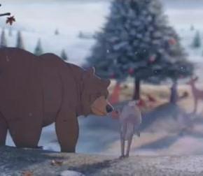 Реклама про Рождество от Walt Disney про медведя, который постоянно просыпал Рождество, так как впадал в спячку.