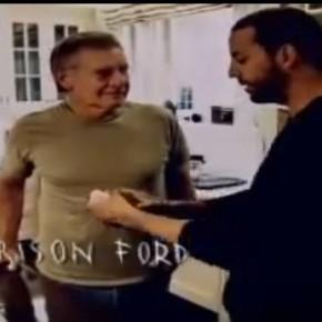 Дэвид Блэйн показал фокус Харрисону Форду. Посмотрите как отреагировал «Индиана Джонс»