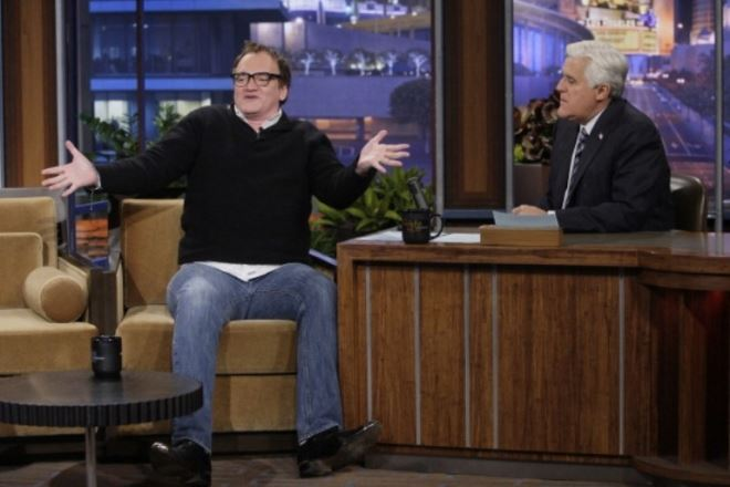 Квентин Тарантино на «Вечернем шоу с Джеем Лено» поделился информацией касательно своего нового фильма.