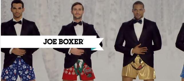 «Покажи своего Джо»-прикольная реклама мужского нижнего белья.