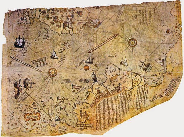 Карта Пири Рейса до сих пор хранит в себе удивительные загадки о нашей планете, которые наука не способна объяснить.