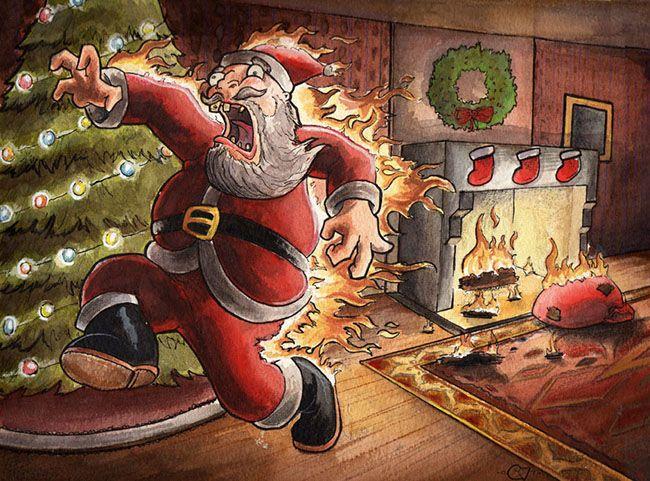 Лучшие рождественские картинки о Санта Клаусе
