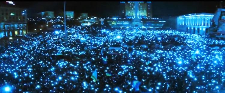 Красивое патриотическое видео о Евромайдане — «EUROMAIDAN Day 'N' Nite HD»