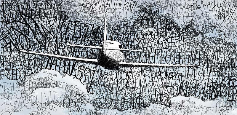 Word art: Рисунки словами от Майкла Волпичелли.