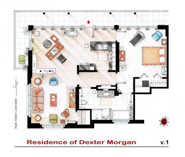 Планировка домов и квартир из известных нам сериалов.