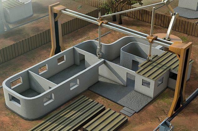 Строительный 3D-принтер построит дом меньше чем за 24 часа