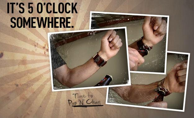 Крутой гаджет недели: наручные часы и открывалка для пива