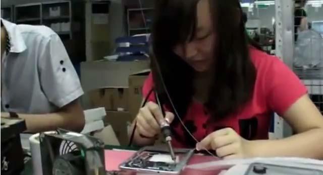 Как производятся китайские планшеты за 50$. Видео