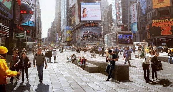 Реконструкция площади Times Square в Нью-Йорке