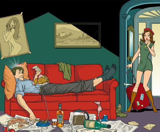 Супер абсурдные факты о здоровье: убирать-вредно, а лежать на диване, играть в игры и есть жирную пищу-полезно.