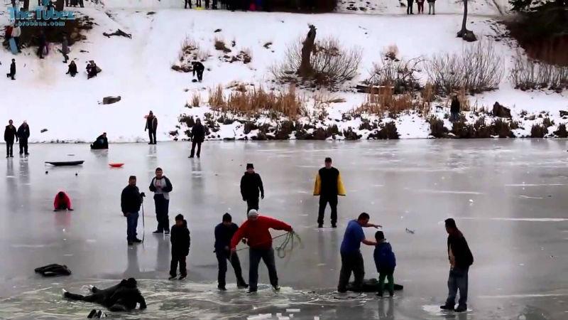 Подборка провалов под лед