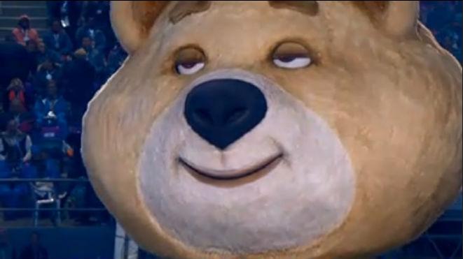 Олимпийский мишка- талисман Олимпиады 2014, стал новым интернет мемом.