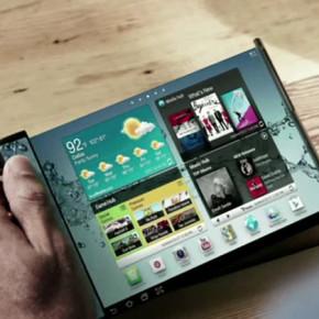 Смартфон и планшет с гибким дисплеем-«Flexible Oled Display Phone» от компании Samsung.