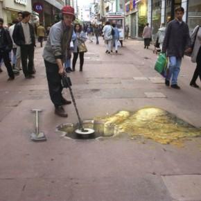 Красивая 3D иллюзия на улице.