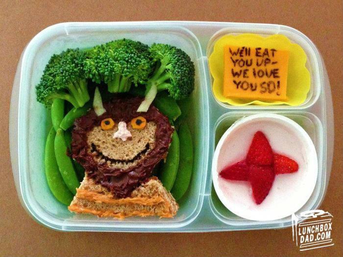 На сынок, поешь: батя приготовил креативный завтрак.