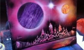 Уличный спрей арт в Нью Йорке.