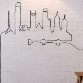 Крутая идея декора: как украсить квартиру с помощью кабеля и проводов.