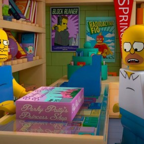 Трейлер знаменитой LEGO серии Симпсонов.