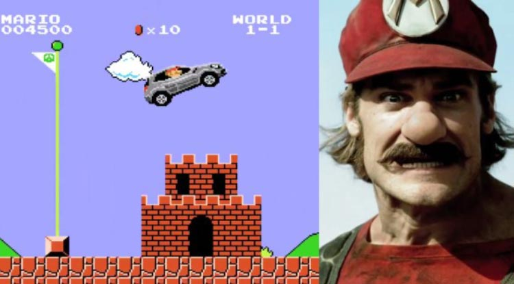 Смешная реклама про Супер Марио который купил Мерседес