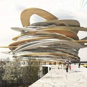 Футуристический дизайн казахского Пантеона.