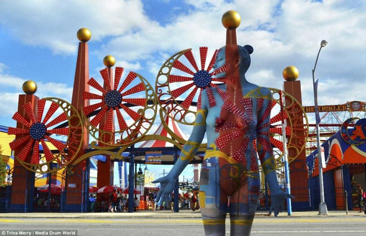 Искусство городского камуфляжа из Нью-Йорка.