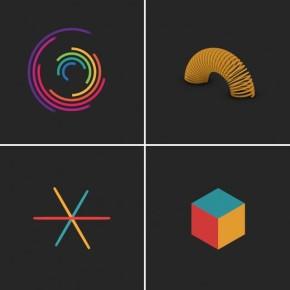 Завораживающие геометрические гифки от Флориана де Луидж