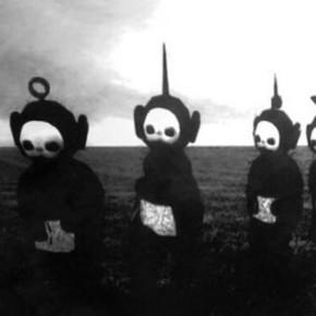Черно-белое видео телепузиков cделает их персонажами ваших ночных кошмаров.
