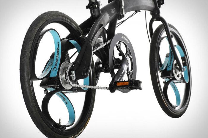 Футуристичные амортизационные колеса «Loopwheels», которым не страшны ни бордюры ни препятствия.