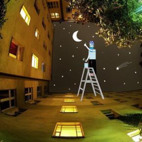 """Искусство рисовать в небе """"Sky Art"""" от французского иллюстратора Томаса Ламадью."""