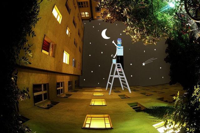 Искусство рисовать в небе «Sky Art» от французского иллюстратора Томаса Ламадью.
