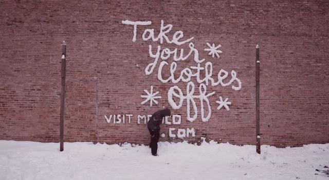 «Снежное граффити» в Чикаго — один из самых удивительных и бесплатных рекламных принтов.